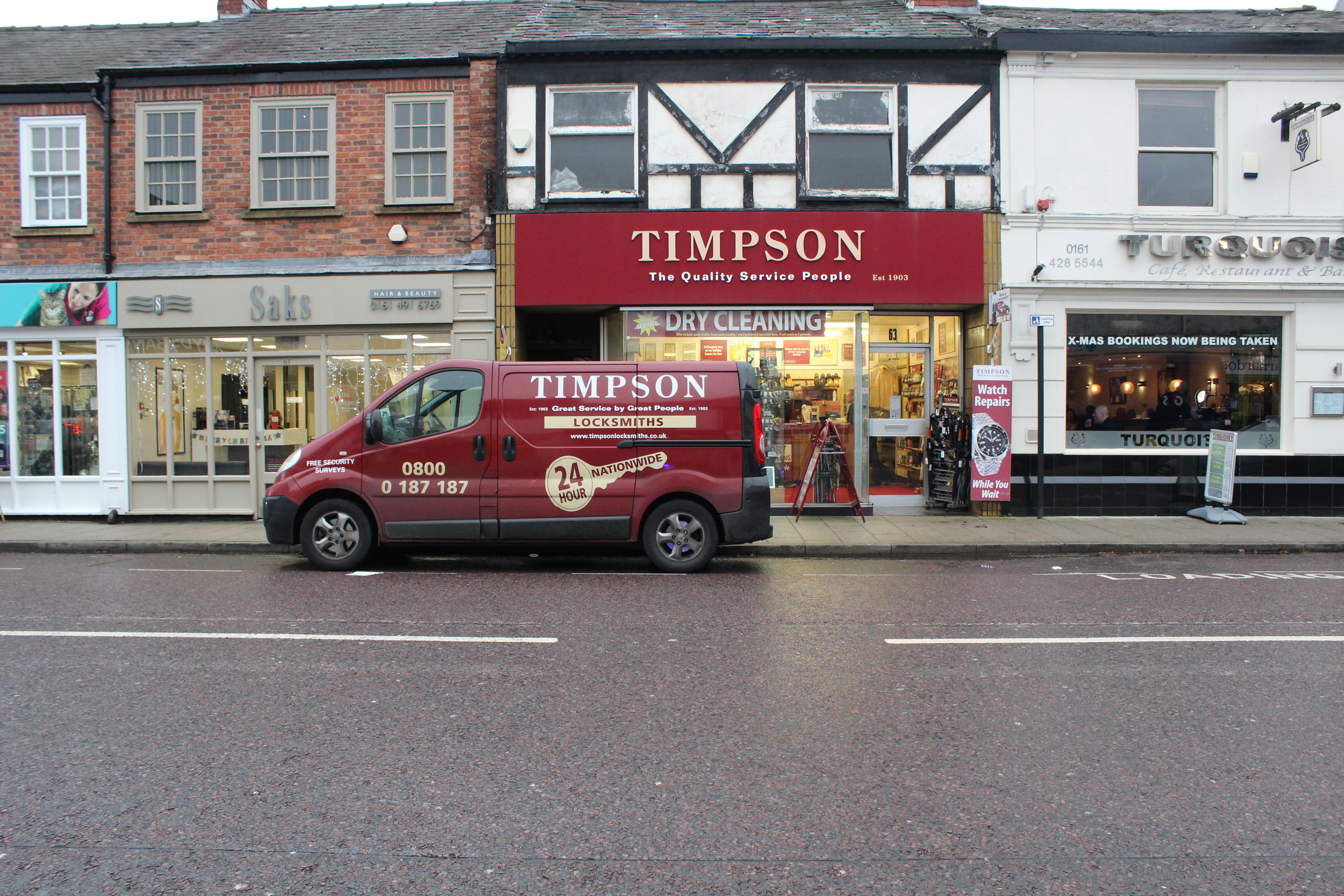 Timpson Locksmith outside Cheadle branch